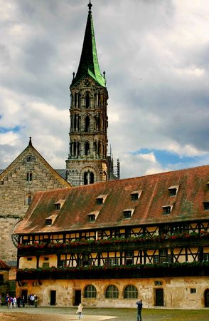 Imperial cathedral and Alte Hofhaltung of Bamberg, Germany