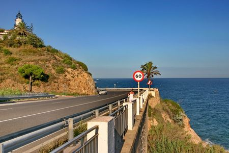 Highway in Spain on seashore