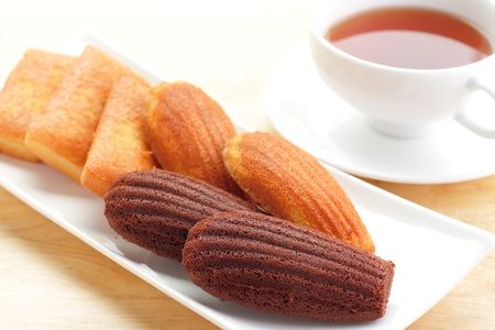 financier: French confectionery and tea Stock Photo
