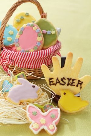 easter cookie: Easter Cookie Collection Stock Photo