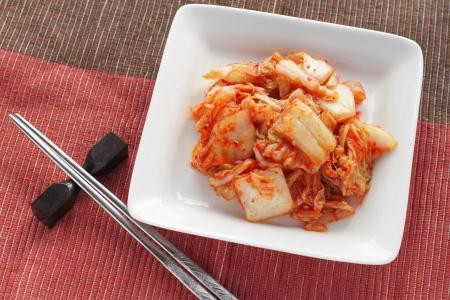 Chinese cabbage kimchi , korean food , korean barbecue side dish photo