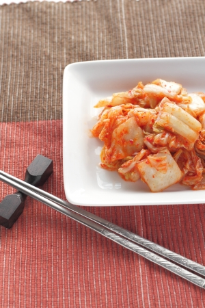 Chinese cabbage kimchi , korean food , korean barbecue side dish photo