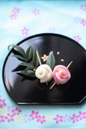 Japanese new year food, Kamaboko for Osechi photo