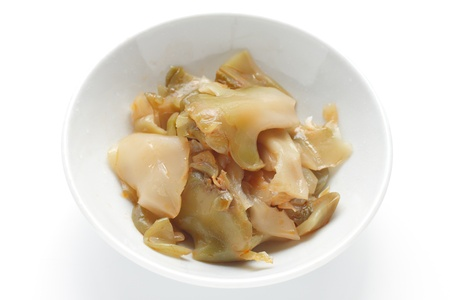 mustard plant: sliced zha cai, served as a condiment in Chinese cuisine.