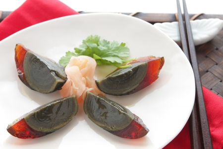 century egg , chinese food Stock Photo