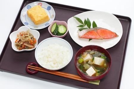 comida japonesa: imagen desayuno típico japonés Foto de archivo