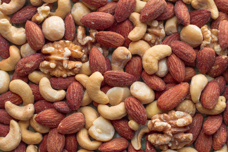 mixed nuts: Nuts mixed, for backgrounds or textures