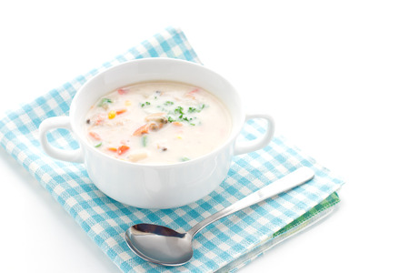 chowder: Gourmet soup, Clam chowder Stock Photo