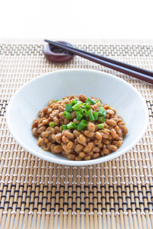fermented: Natto, fermented soybeans
