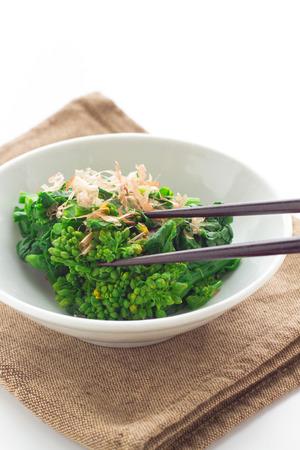 japanese cuisine: Japanese cuisine, boiled rapeseed blossoms