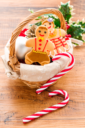 gingerbread cookies: Christmas homemade gingerbread cookies Stock Photo