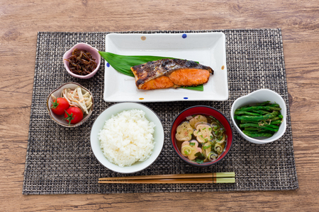 typical: Typical japanese breakfast image Stock Photo