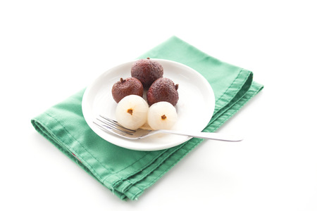 lychee: frozen lychee Stock Photo