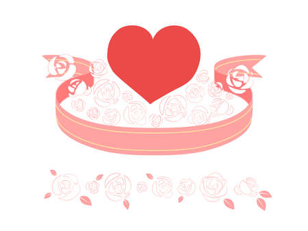 Heart Pink 01 which is surrounded by the ribbon and roses