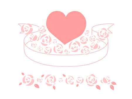 Heart Pink 02 which is surrounded by the ribbon and roses