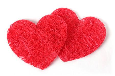 double texture heart  Stock Photo