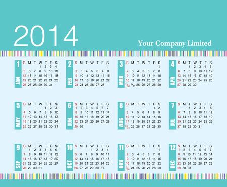 2014 calendar add your company name Stock Vector - 26837722
