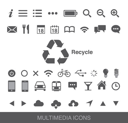 Smart phone multimedia icon
