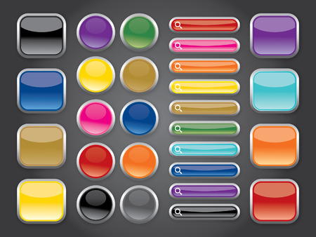 shiny buttons: rainbow shiny buttons