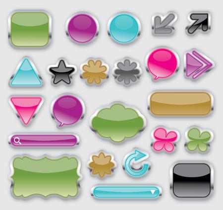 sliver shiny buttons