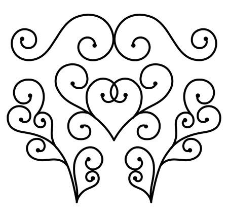 Flourishes of ornament vertor