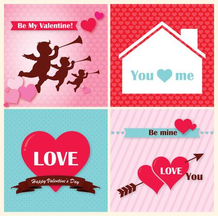 red heart happy valentine day Illustration