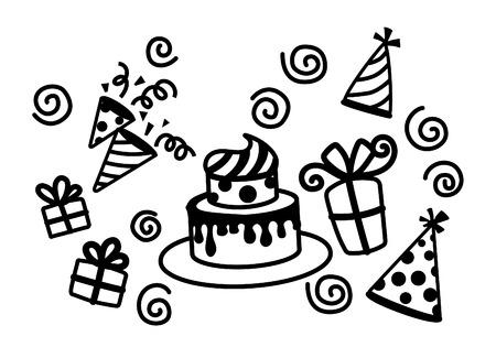 Birthday Cake   Hat Party Vector