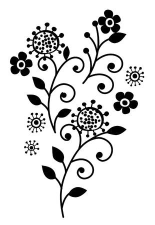 Flower of ornament vertor
