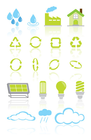 green recycle environment icon set