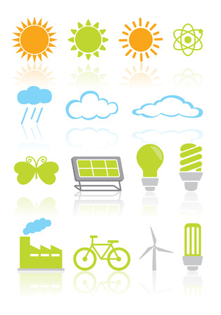 Nature and environment icon set Stock Vector - 26837852