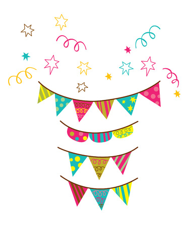 Birthday flag Party Vector