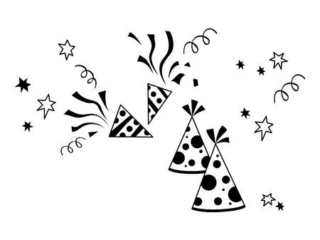 Birthday Hat Celebration silhouette Vector