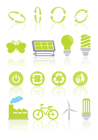 Collection Eco Design Elements  Vector