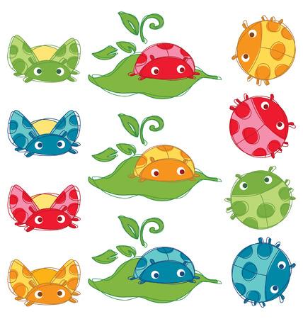 Colorful Cute bug Vector Stock Vector - 26837918