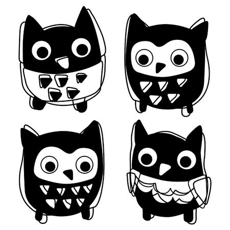Cute animal icon silhouette vector illustration