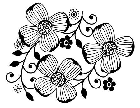 Flower of ornament vector  Illustration