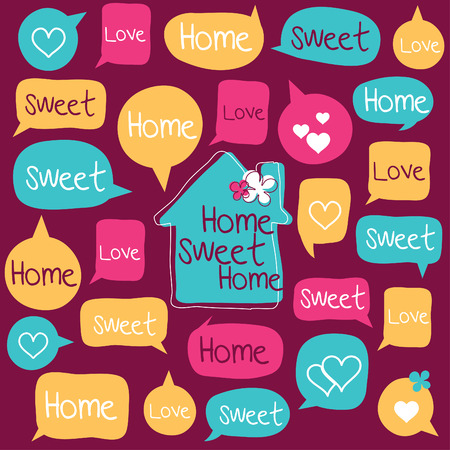 Home Sweet Home Family are chatting Stock Vector - 26837947