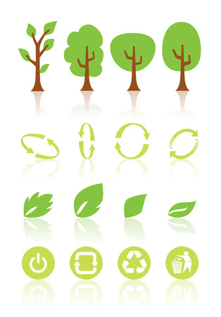 Nature and environment icon set