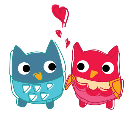 owl lover owls with various emotions Stock Vector - 26837952
