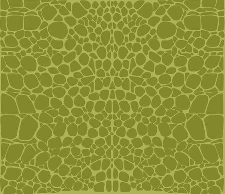 Seamless pattern of green crocodile skin Pattern