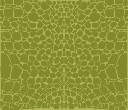 crocodile skin: Seamless pattern of green crocodile skin Pattern