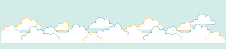 The sky of cloud  A vector illustration  Illustration
