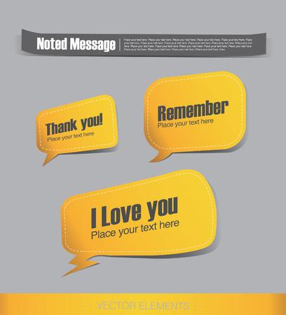 yellow label, Talking bubble Vector