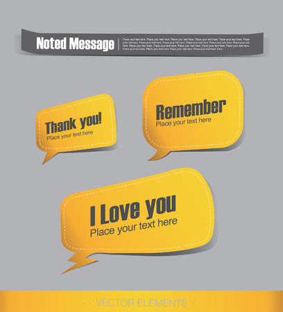 yellow label, Talking bubble Stock Vector - 26837981
