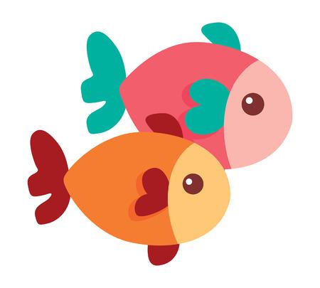 cute little fish icon vector