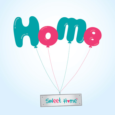 Group of balloons with the words Home sweet Home Stock Vector - 26837991