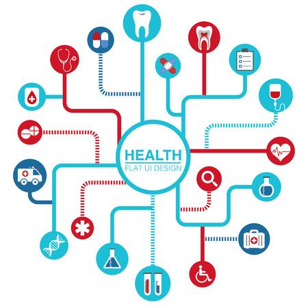 Abstract Creative Icon -- Online Health Flat UI Design icon  Illustration