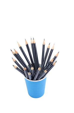 Pencils isolated on white background photo
