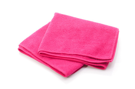 Bath towel isolated on white  photo