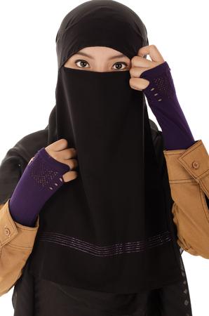 ksa: Portrait of a beautiful Muslim Arabic girl Stock Photo